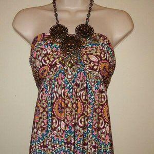 Muse Boho Women's 2 Halter Dress Mandala Summer
